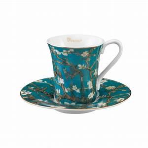 Service Tasse à Café : tasse caf en porcelaine fine amandier en fleurs van gogh ~ Teatrodelosmanantiales.com Idées de Décoration
