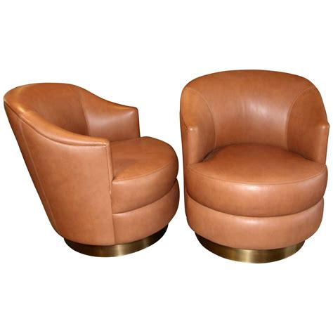 swivel leather chairs a rudin leather swivel chairs with brass base ordered by 2639