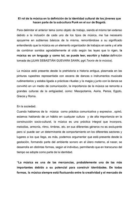 Calaméo  El Rol De La MÚsica En La DefiniciÓn De La