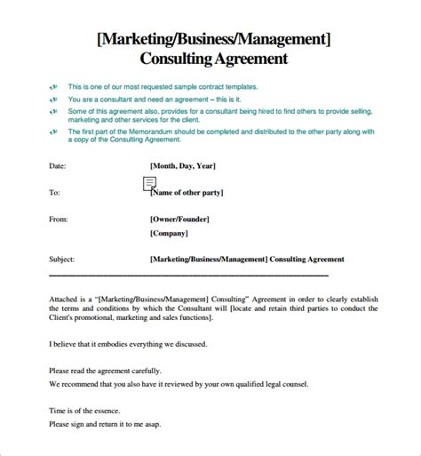 consulting agreement 15 pdf doc