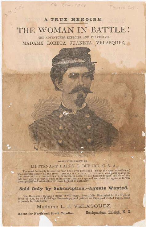 loreta janeta velazquez a confederate con artist and in battle during the american civil war