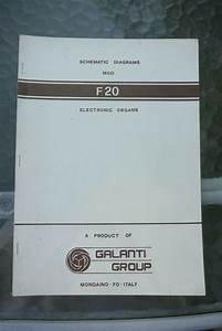 Galanti Group Organ Schematic Diagrams F20 Manual