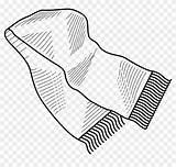 Scarf Coloring Winter Pngfind sketch template