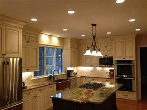 Recessed lighting in kitchen gallery also best images