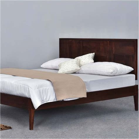Wooden Bed Platform by Modern Pioneer Solid Wood Platform Bed Frame W Headboard