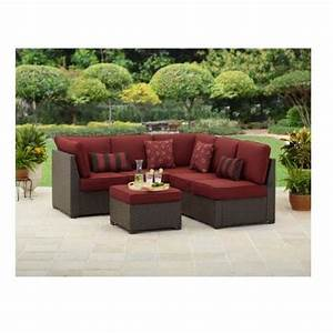 3 piece outdoor wicker sectional sofa patio furniture set With 3 piece outdoor sectional sofa set