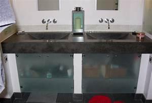 sablart salle de bain With porte d entrée alu avec meuble salle de bain plan vasque en verre