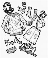 Coloring Outfit Clothing Funday Sunday Diaries Friend Week sketch template
