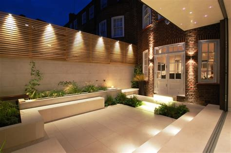 be inspired lighting up your contemporary outdoor space