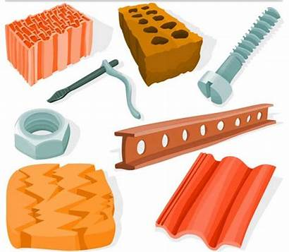 Materials Different Building Vector Graphics Construction Lumber
