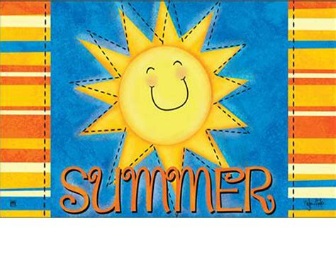 Summer Doormats by Indoor Outdoor Summer Sun Matmate Insert Doormat 18x30