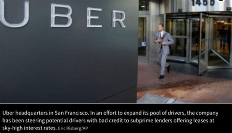 Uber Promotes Subprime Auto Loans To Increase Driver Pool
