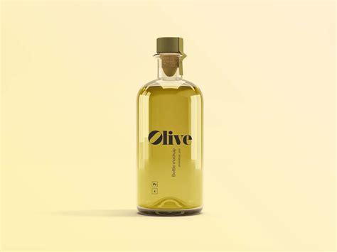 Antique green glass red wine bottle mockup 52005 tif. Free Olive Oil Bottle Mockup (PSD)