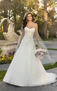 Wedding dresses lace organza a line wedding dress for Lacy wedding dresses