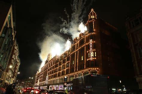 harrods christmas lights switch on zimbio