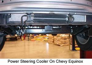 Power Steering Cooler Location On A 2011 Chevy Equinox And