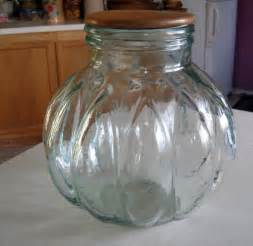 clear canisters kitchen large vintage glass canister apothecary jar wooden lid