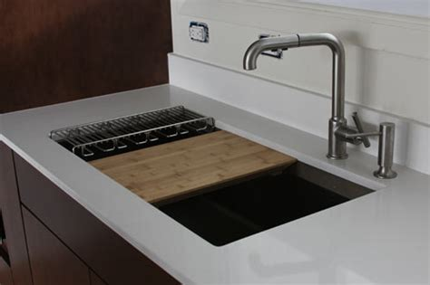 kitchen sink with cutting board the house milk kitchen project sink and faucet design milk 8569
