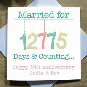 10 best married days anniversary card collection images on With what to give for 35th wedding anniversary