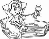 Vampire Coloring Pages Halloween Coffin Printable Vampires Cute Drawing Cartoon Sheets Haunted Fresh Lovely Anime Printables Getcolorings Werewolf Queen Rosario sketch template