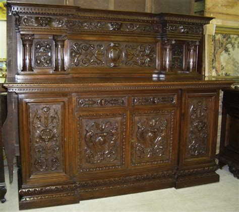 buffets sideboards credenzas antique country walnut carved buffet credenza
