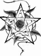 Witchcraft Pentagram Tattoo Tattoos Pentacle Drawings Wiccan Pentagrams Drawing Wicca Deviantart Celtic Pagan Sketch Rose Coloring Witch Cool Symbol Fanpop sketch template