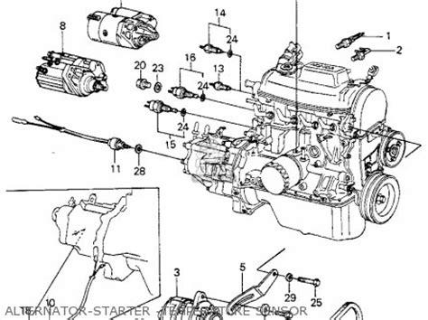 1980 Honda Accord Belt Diagram by 31110 Pa6 662 Belt A C G Civic Htbk Wagon 1980 A