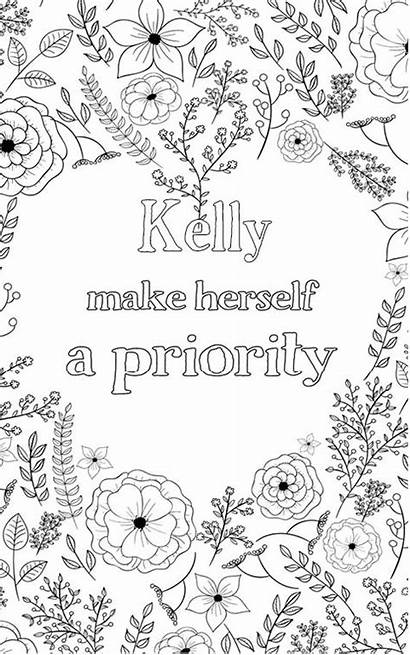 Kelly Personalised Personalized Adult Coloring Nobel