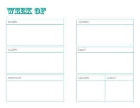 Weekly Planner Pages Printables