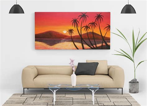 living room painting wall canvas mockup psd good