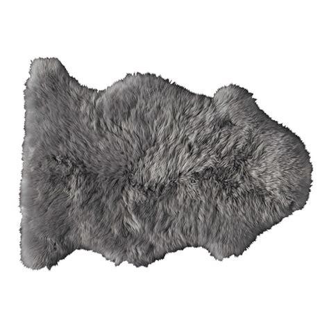 mouton maison du monde tapis en peau de mouton gris 55 x 90 cm maisons du monde