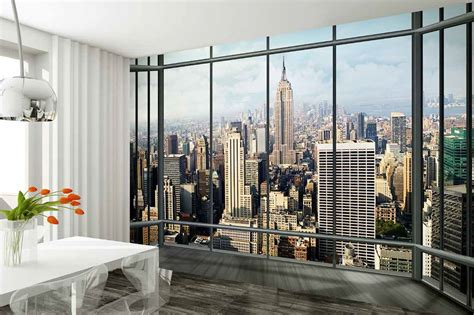 york city view wall mural wallpaper  shop