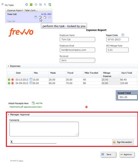 Expense Report Workflow Tutorial Frevvo Confluence
