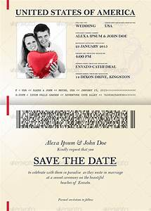 passport template 19 free word pdf psd illustrator With passport wedding invitations template free download