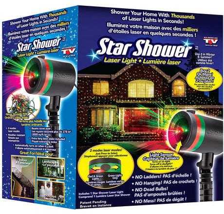 star shower christmas lights battery shower laser light walmart canada