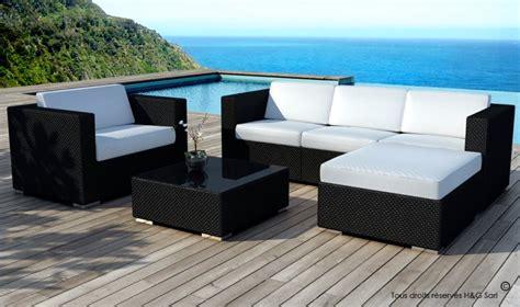 salon de jardin resine tressee noir salon de jardin en rsine tresse miami mobilier de jardin resine tressee
