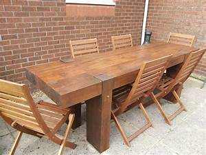 Garden, Table, From, 2, 4m, Long, New, Railway, Sleepers