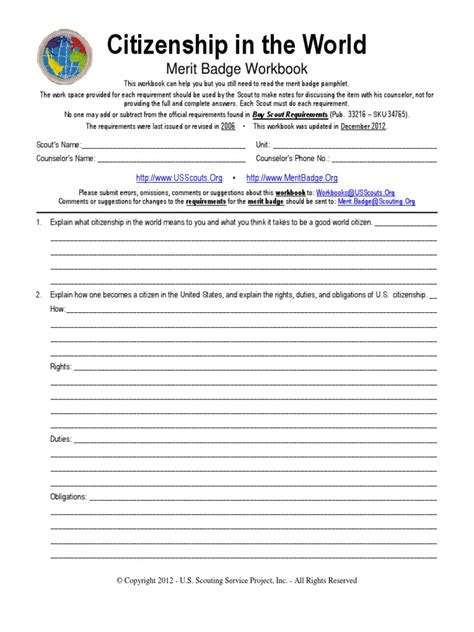 worksheets for family merit badge worksheet exle