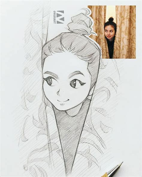 amazing sketches  strangers  cartoon  indonesian