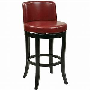 Adjustable Red Leather Bar Stools : Cabinet Hardware Room