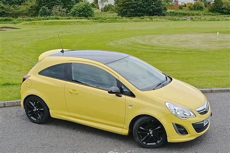 vauxhall yellow vauxhall corsa 1 2i yellow
