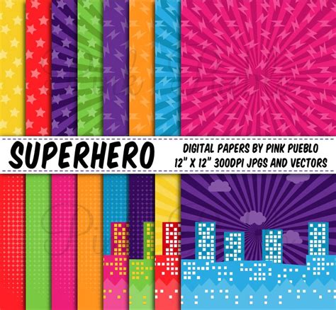 superhero backgrounds  papers graphic patterns