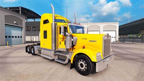 peterbilt and kenworth skin yellow inc for peterbilt and kenworth trucks for