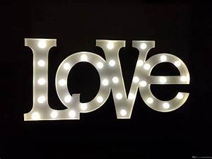 2017 light up white metal love letter marquee light With white metal light up letters