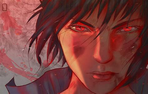 Wallpaper Look, Face, The Wind, Red Eyes, Sharingan