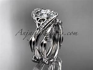 platinum celtic trinity knot engagement set wedding ring With celtic knot wedding ring sets