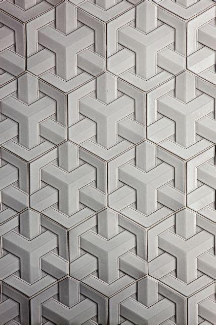 Sacks Tile Dc by Daniel Ogassian Glazed Ceramic Geoweave Tiles For