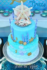 Kara's Party Ideas Vintage Glamorous Little Mermaid Birthday Party Kara's Party Ideas