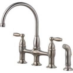 lowes kitchen faucets shop delta dennison stainless 2 handle high arc deck mount kitchen faucet at lowes
