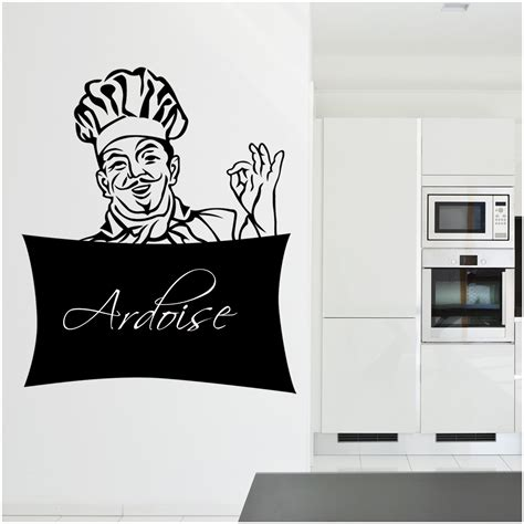 chef de cuisine description stickers ardoise chef cuisine pas cher